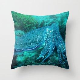 Cuttlefish Mating Dance Throw Pillow