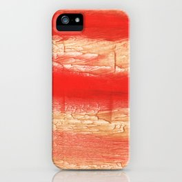 Burnt sienna abstract watercolor iPhone Case