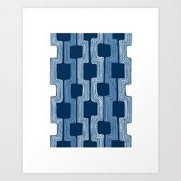 blue line Art Print