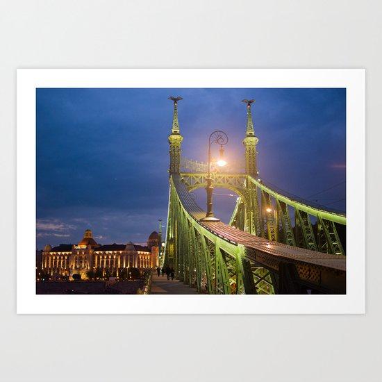 Budapest Bridge Art Print