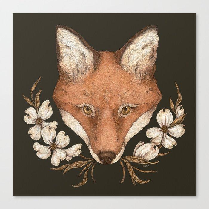 The Fox and Dogwoods Leinwanddruck