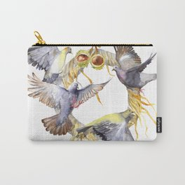 Autumn in the city Pigeon Wreath Carry-All Pouch