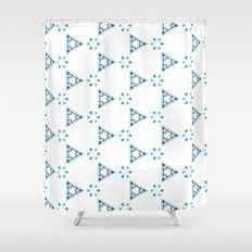 Little blue triangles Shower Curtain