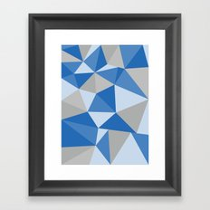Blue & Gray Geometric Framed Art Print