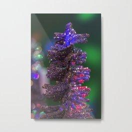 Colorful Christmas Tree Metal Print