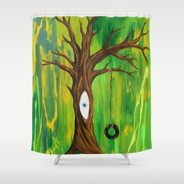 Tire Swing / Never forget your inner child Shower Curtain