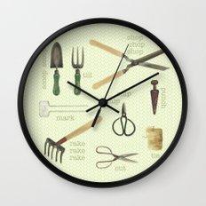 Garden Tools Wall Clock