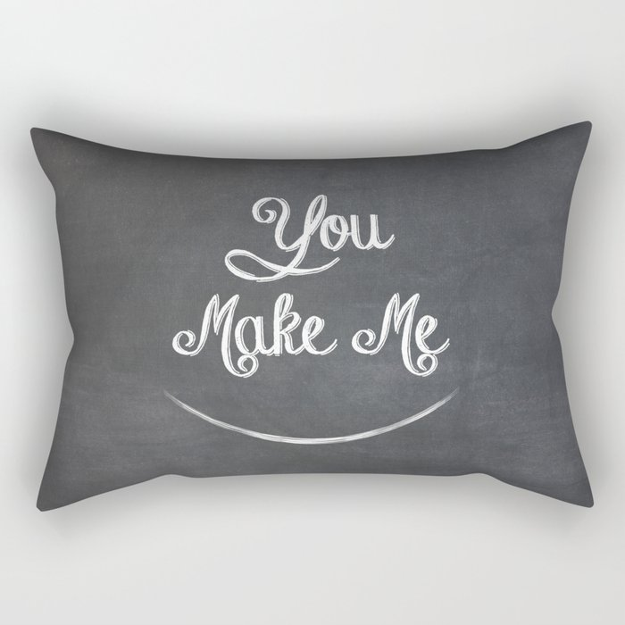 You Make Me Smile - Chalkboard Rectangular Pillow