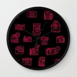 Camera: Pink Wall Clock