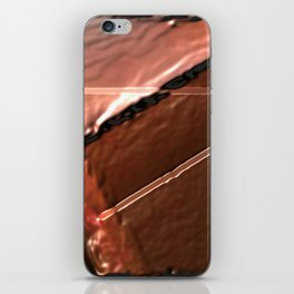 geometrical abstrac art copper colored metal texture iPhone Skin