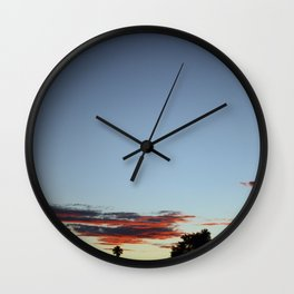 Sunset In The Park Wall Clock