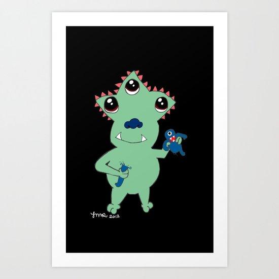 Green Guy Art Print