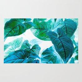 Jungle leaf - invert Rug