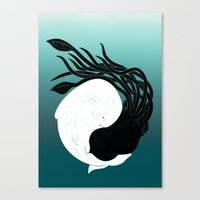 Sea Frenemies Canvas Print