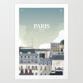 Alone In Paris - Paris s'éveille (Paris wake up) Art Print