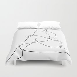 abstract nude Duvet Cover