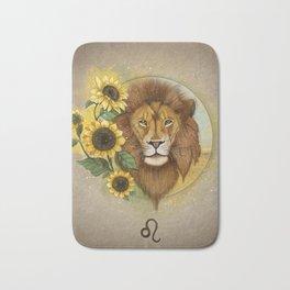 Leo zodiac sign Bath Mat