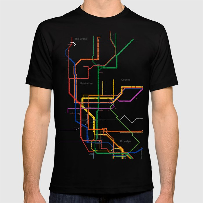 Nyc Subway Map T Shirt.New York City Subway Map T Shirt By Igorsin