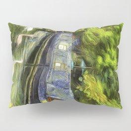 Narrow Boats Little Venice art Pillow Sham