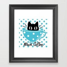 Black Coffee Framed Art Print