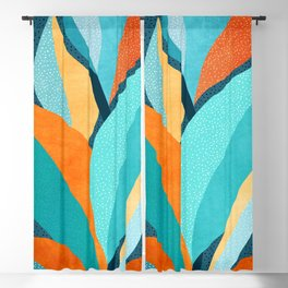 Abstract Tropical Foliage Blackout Curtain