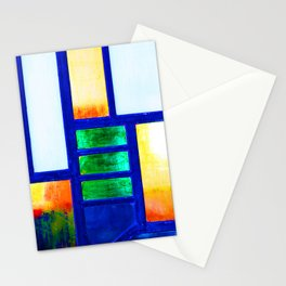 Art Deco Colorful Stained Glass Stationery Cards