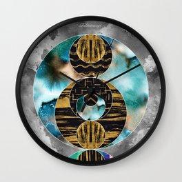 Fibonacci Circles Wall Clock