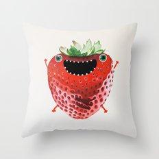 Nice Strawberry Throw Pillow