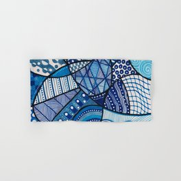Doodly Do (in blue) Hand & Bath Towel