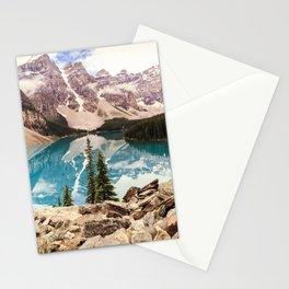 Moraine Lake III Banff Summer Mountain Reflection Stationery Cards