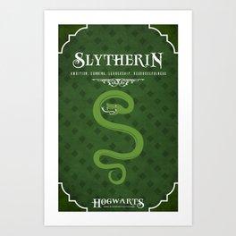 Slytherin House Poster Art Print