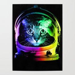 Astronaut Cat Poster