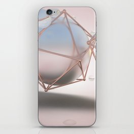 Metallic Spheres in Cages of Rose Gold iPhone Skin