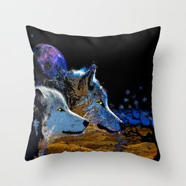 THE WOLF YOU KNOW Throw Pillow