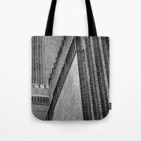 kris tate Tote Bags featuring Tate Modern by unaciertamirada