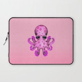 Cute Pink Baby Octopus Laptop Sleeve