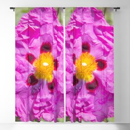 Creased Flora Blackout Curtain