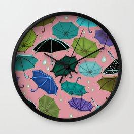 DownPour of the Umbrella's Wall Clock