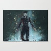 "dishonored Canvas Prints featuring ""The Outsider"" Dishonored by Alba Palacio"
