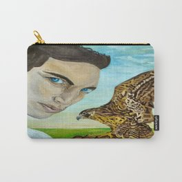 """Peale's (Peregrine) Falcon and the Portrait of a Man"". Carry-All Pouch"