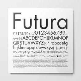 Futura (Black) Metal Print