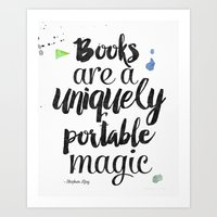 stephen king Art Prints featuring Stephen King quote by Good vibes and coffee