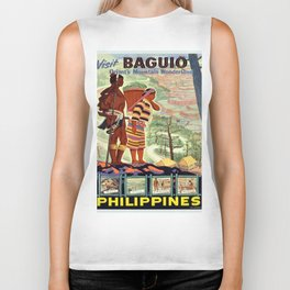 Vintage poster - Philippines Biker Tank
