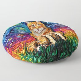 Orange Tabby Night Floor Pillow