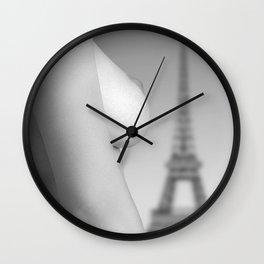 Nude in Paris Wall Clock