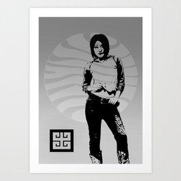 jean ad 4 Art Print