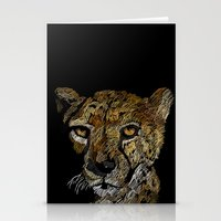 cheetah Stationery Cards featuring cheetah  by JosephMills