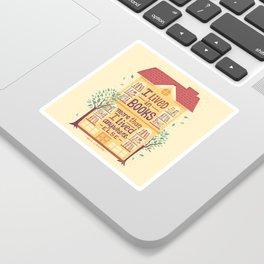 Lived in books Sticker