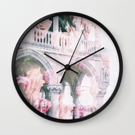 Floral In Venice Wall Clock