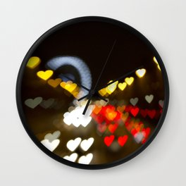 Love Along the Champs Elysees Wall Clock